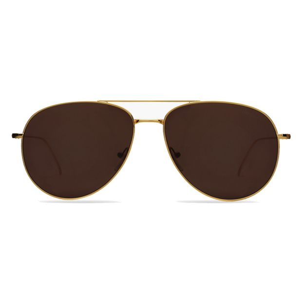 SQUARE-Linate-Gold-With-Brown-Lenses